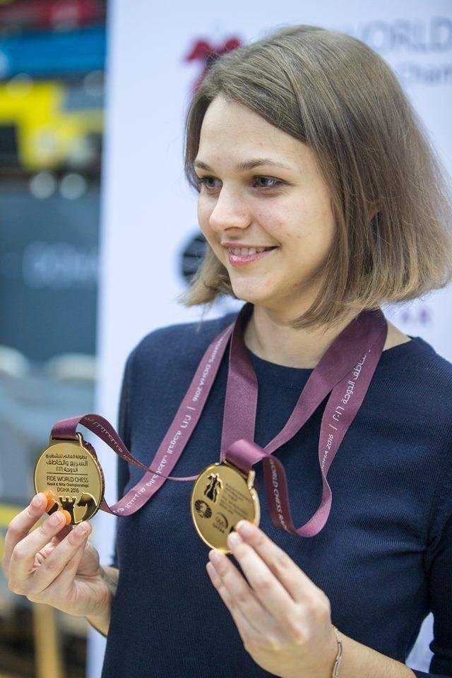 На этой неделе Музычук потеряет два титула чемпиона мира / facebook.com/anna.muzychuk