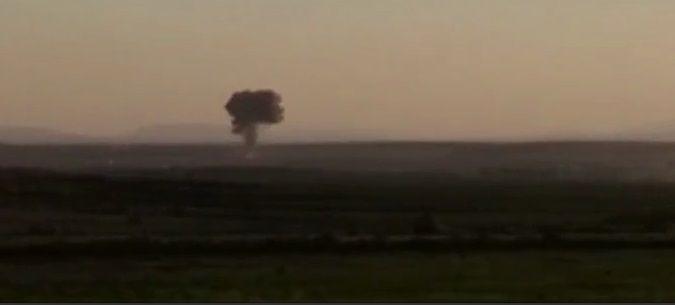 Боевики сбили самолет сирийских ВС   / Скриншот