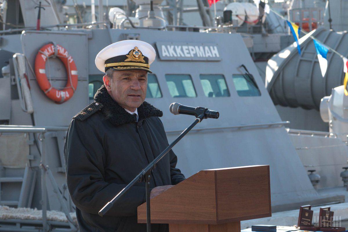 Командующий Военно-морскими силами Вооруженных сил Украины адмирал Игорь Воронченко / фото УНИАН