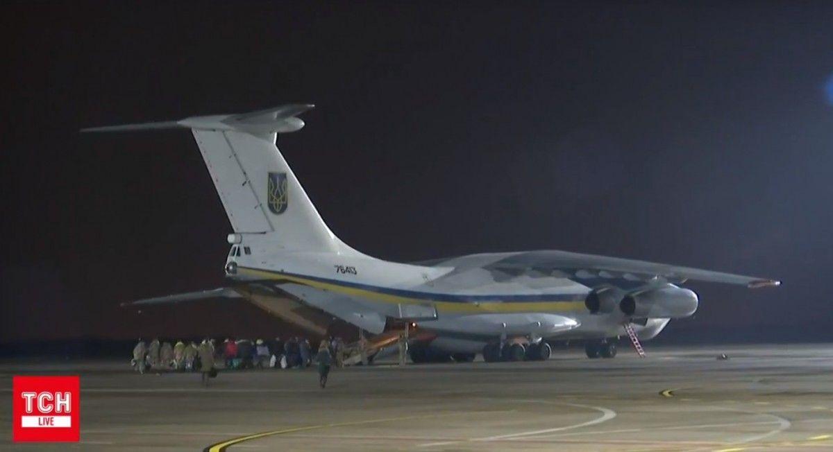 Президентский самолет с вызволенными нашими героями вылетел из Харькова в Киев, сообщил Цеголко / Кадр из видео ТСН