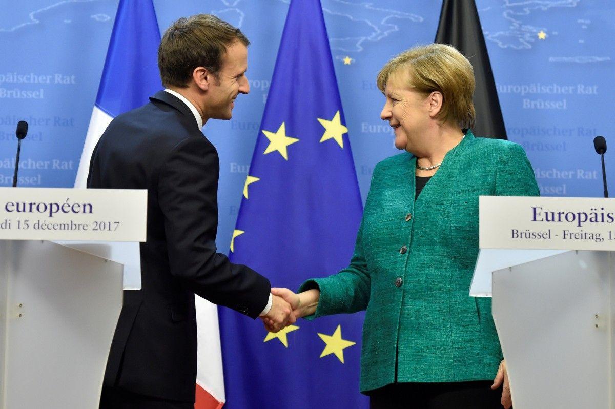 Емммануель Макрон та Ангела Меркель / REUTERS