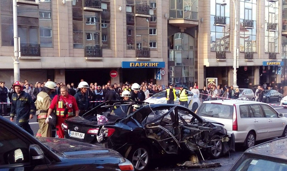 A car exploded in Kyiv in September / Photo from Myroslava Naumchuk