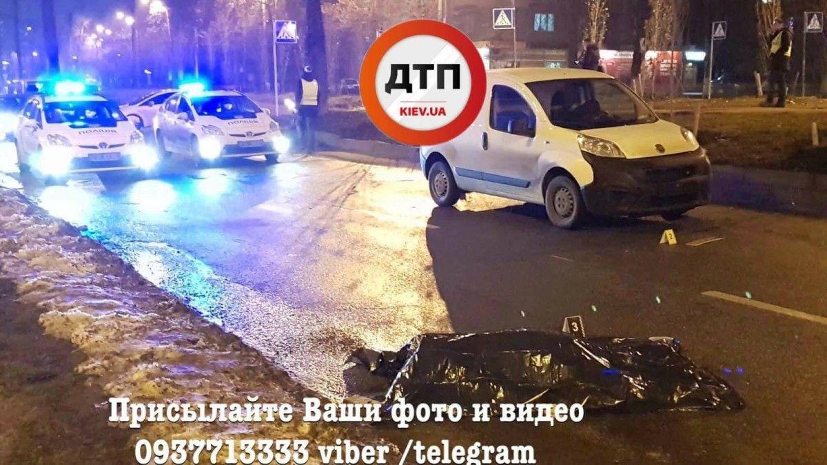 Под колесами Fiat погибла женщина / фото facebook.com/dtp.kiev.ua