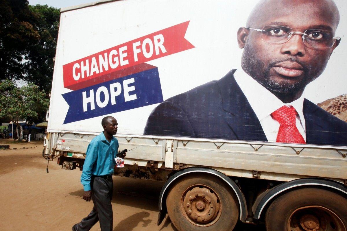 Володар «Золотого м'яча» Веа переміг напрезидентських виборах у Ліберії