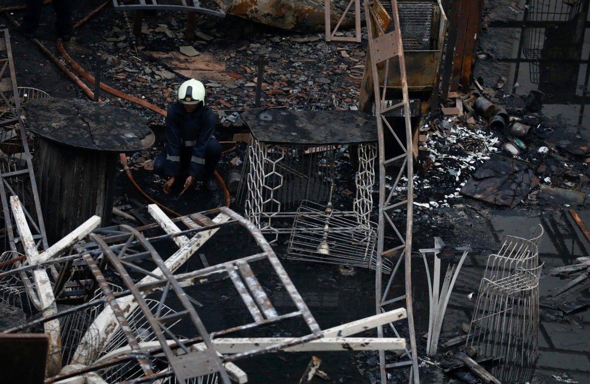 Пожар в Мумбаи / фото REUTERS