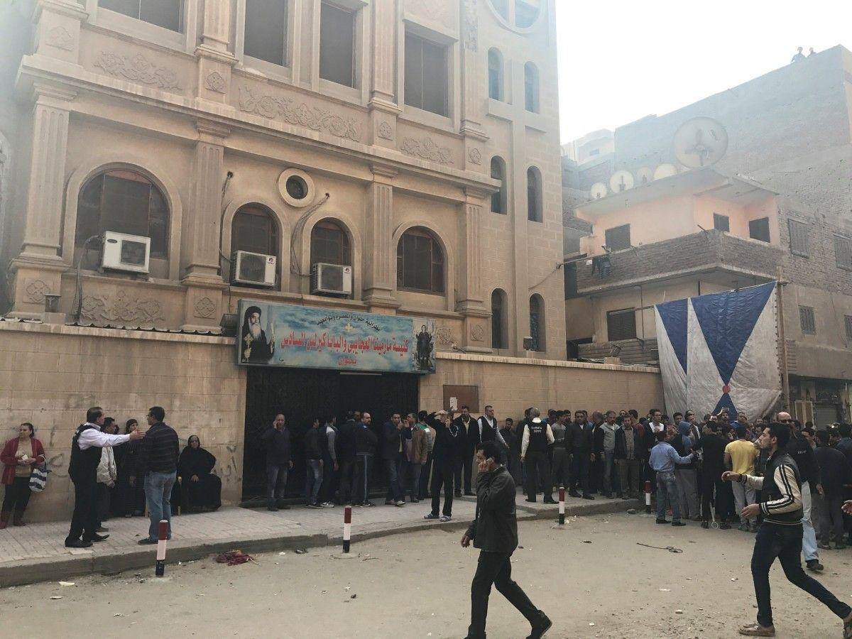 Церковь в Египте, в которой произошла перестрелка / фото REUTERS