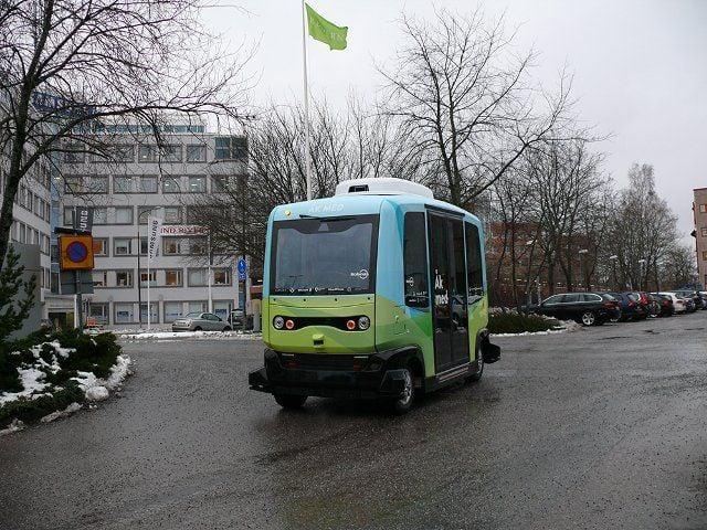 В Стокгольме запустили первые беспилотные пассажирские автобусы / фото @TheLocalSweden