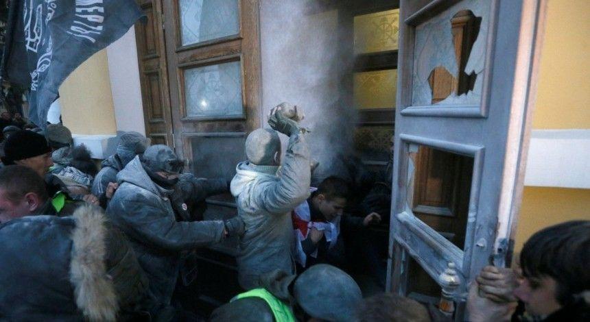 Саакашвілі прокоментував штурм Жовтневого палацу (відео)
