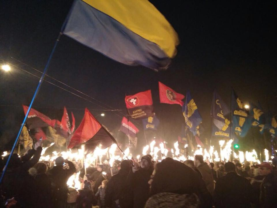 A march with torchlights / Photo from Kyiv Police