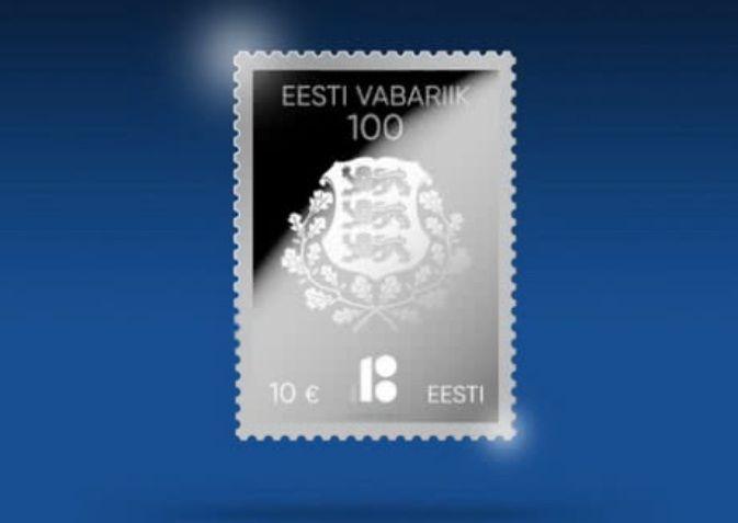 Эстония в честь 100-летия выпустит почтовую марку из серебра / фото почтовая служба Эстонии
