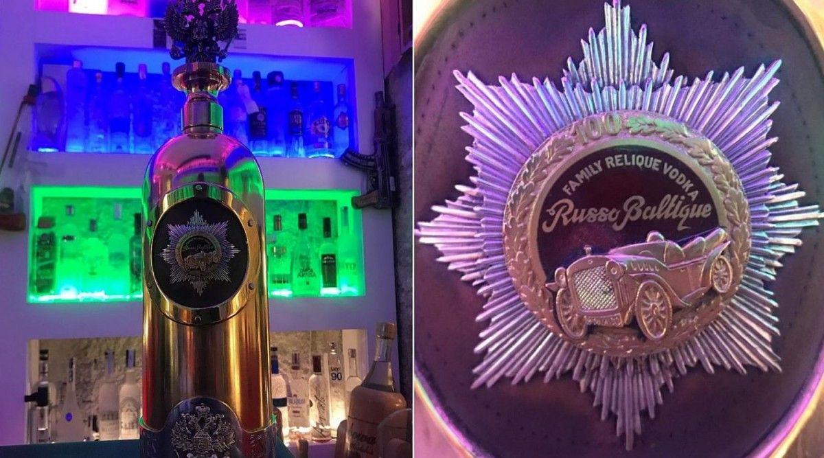 В столице Дании Копенгагене неизвестные похитили из частной коллекции бутылку водки Russo Baltique / Фото: tv2lorry.dk