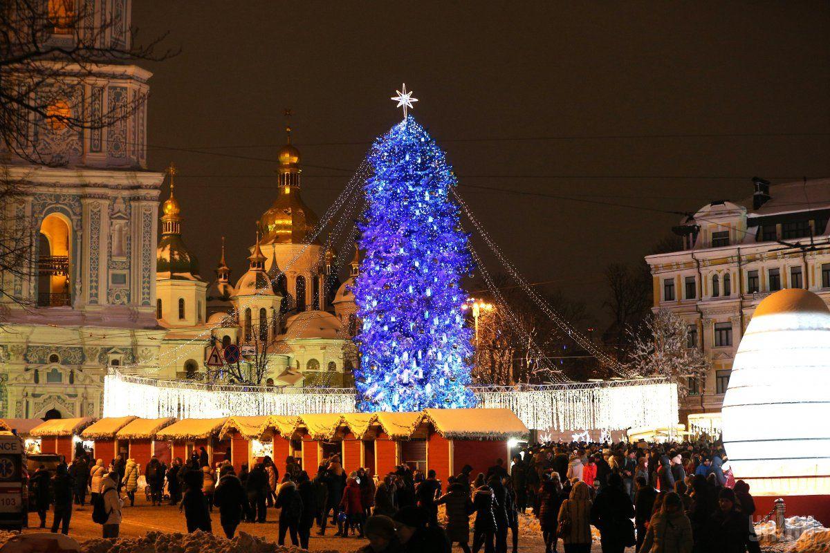 Главной новогодней елке Украины дадут вторую жизнь / фото УНИАН