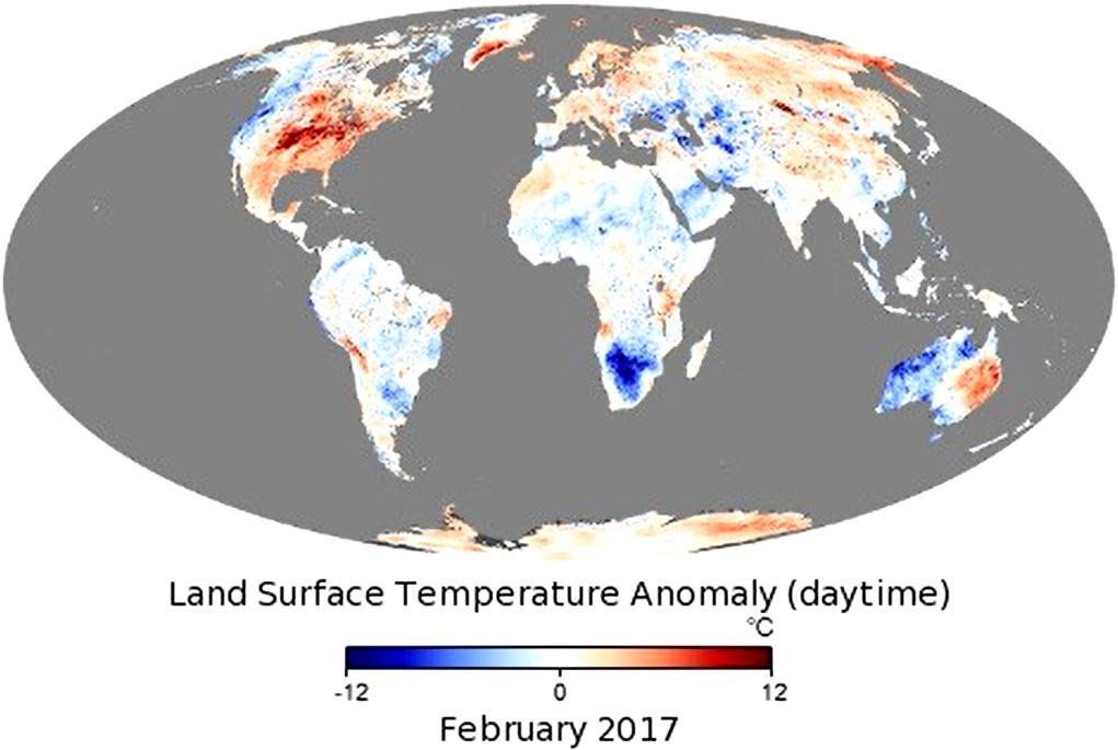 NASA обнародовали карту температурных аномалий в мире / скриншот из видео NASA