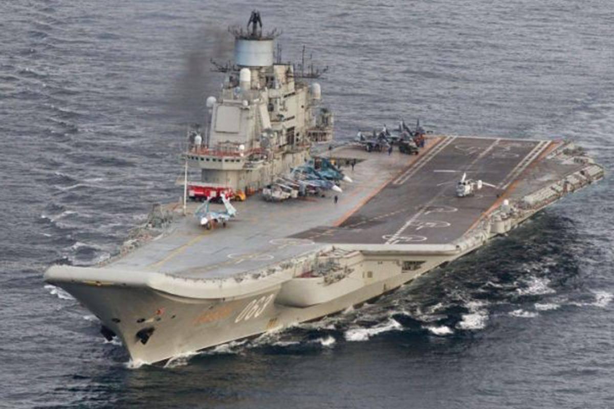 Авианосец«Адмирал Кузнецов»/ REUTERS