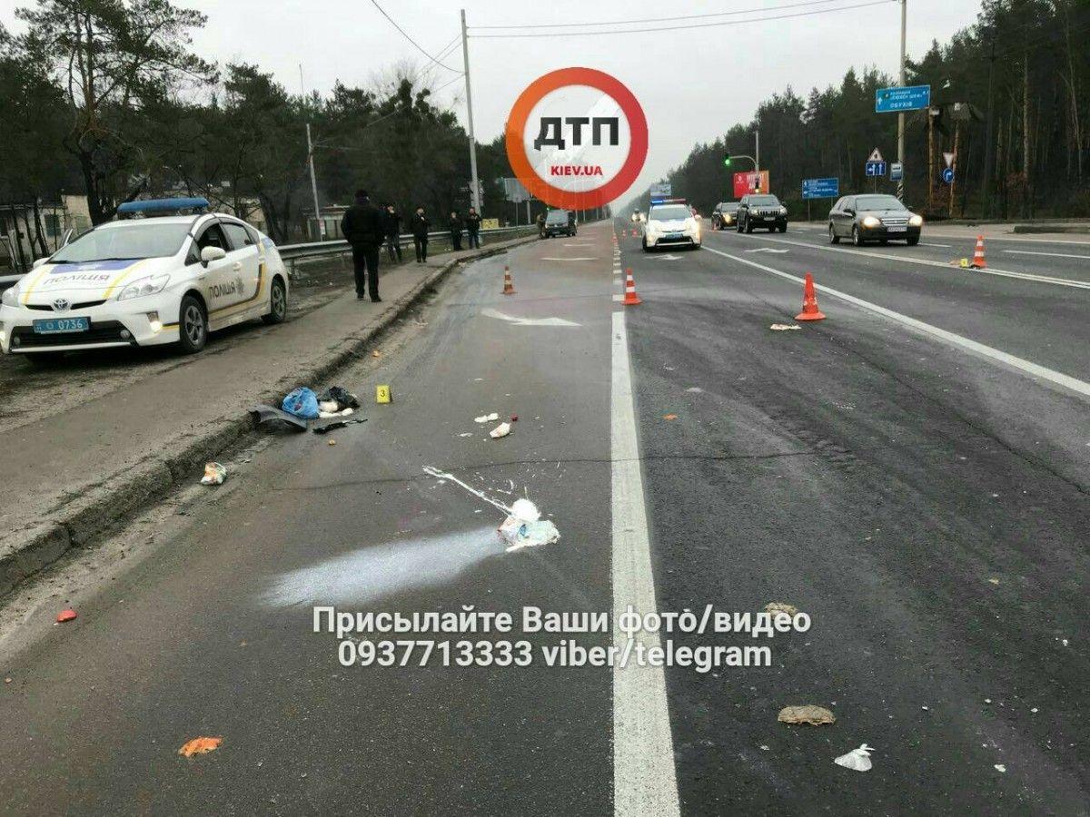 Водитель скрылся с места ДТП / фото facebook.com/dtp.kiev.ua