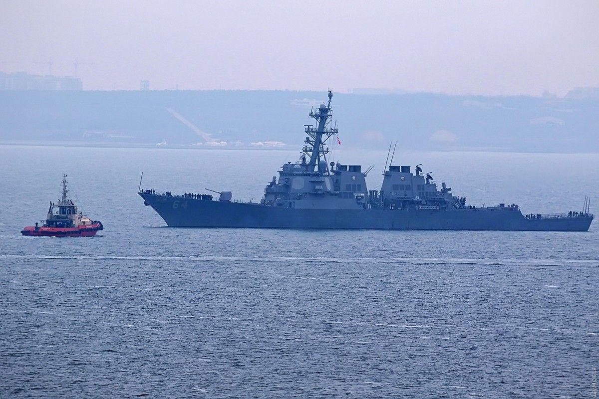 Заход второго корабля ВМС США в Черное море совершается в рамках графика / фото port.odessa.ua