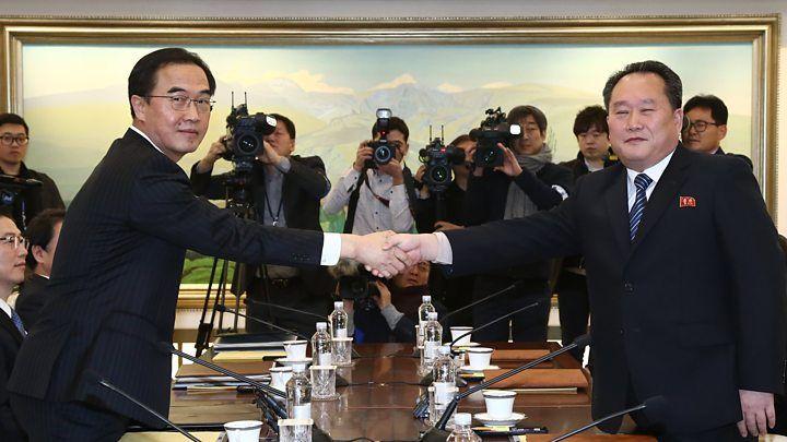 Влада КНДР і Південної Кореї домовилися про участь севернокорейских спортсменів в Іграх-2018 / bbc.com