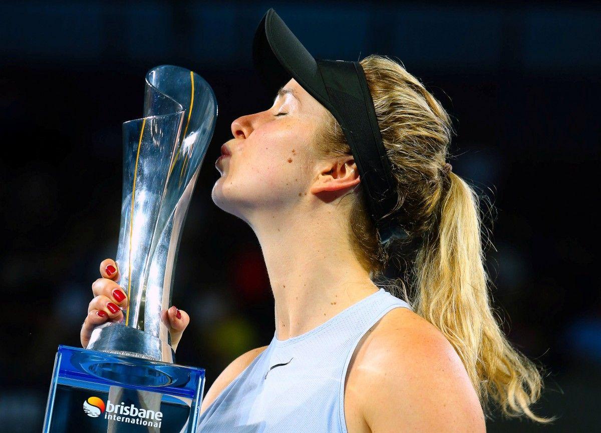 Элина Свитолина начала 2018 год с завоевания титула в Брисбене  / REUTERS