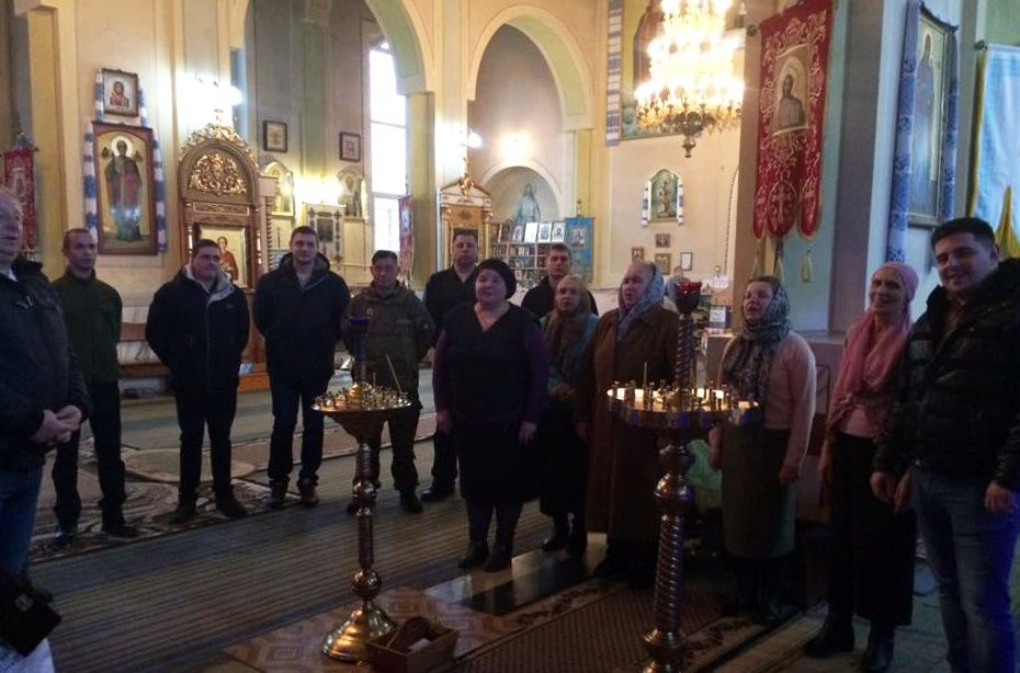 Солдати помолились за мир у нашій багатостражданній державі / upc.lviv.ua