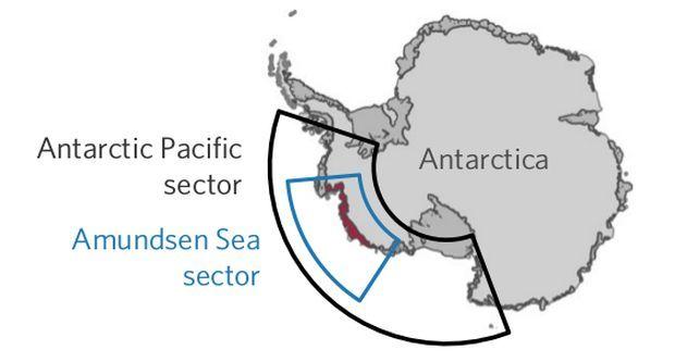 Карта областей в Западной Антарктиде, на которые Эль-Ниньо оказывает наибольшее влияние / фото F. S. Paolo et al./ Nature Geoscience, 2018