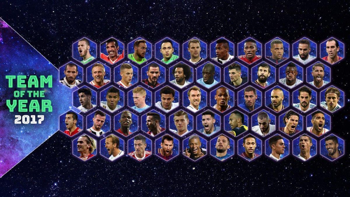 УЄФА оголосив склад символічної збірної 2017 року / UEFA