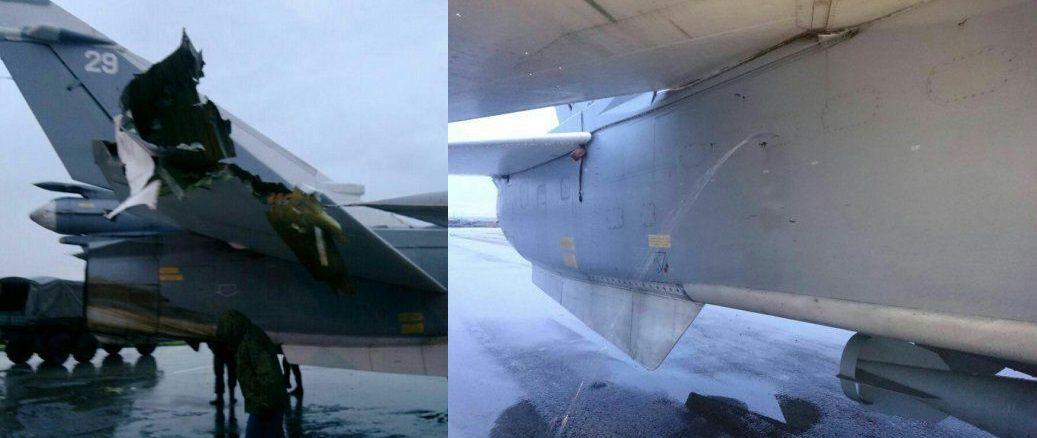 Фото знищеного в Сирії літака / Колаж із фото Роман Сапоньков / Вконтакте
