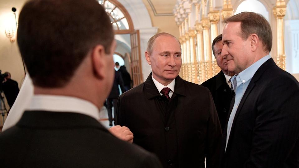 Владимир Путин и Виктор Медведчук  REUTERS