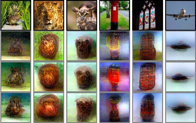 Реконструювання реальних об'єктів / фото Kamitani et al./bioRxiv.org