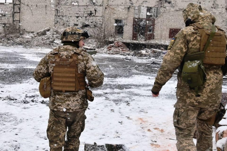 ВСУ у Шахты Бутовка / фото пресс-центр штаба АТО