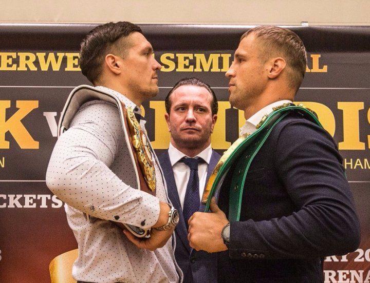 Бой Усик - Бриедис пройдет 27 января в Риге / BoxingScene.com
