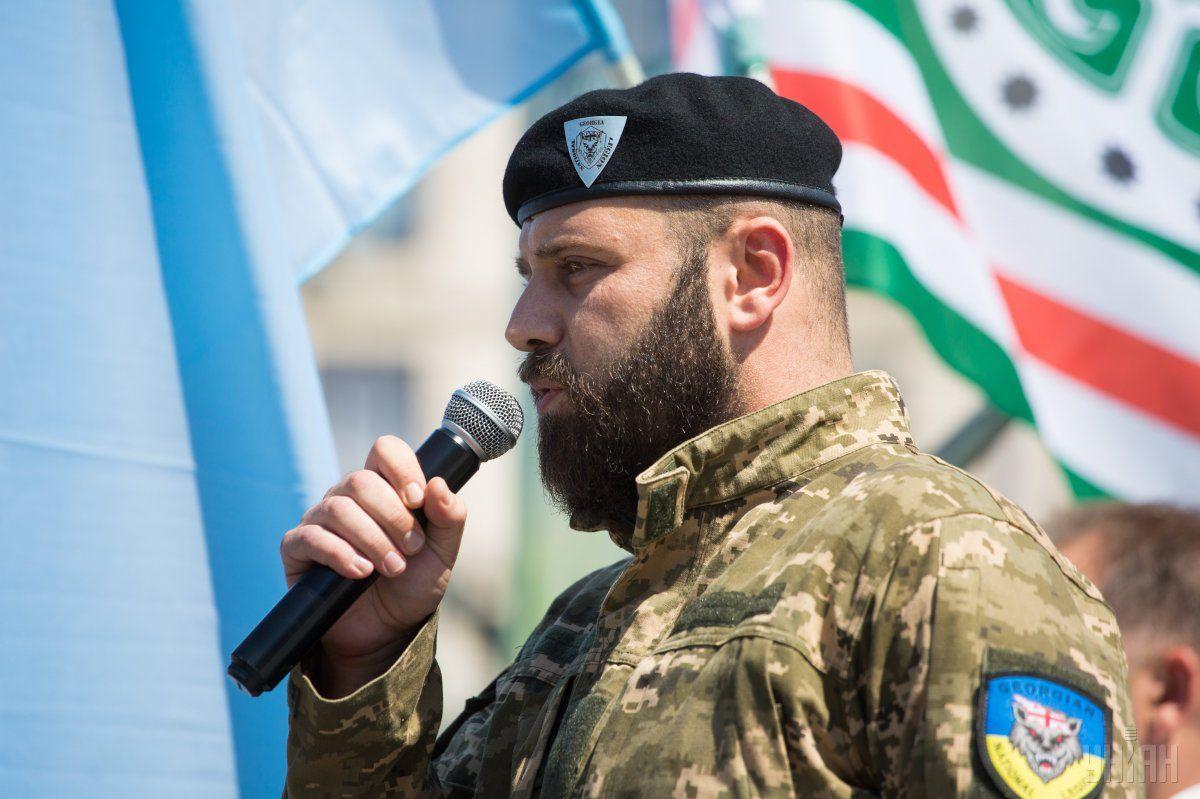 Мамулашвили заявив, що його бійці не покинуть Україну, поки не буде виграна війна / Фото УНІАН