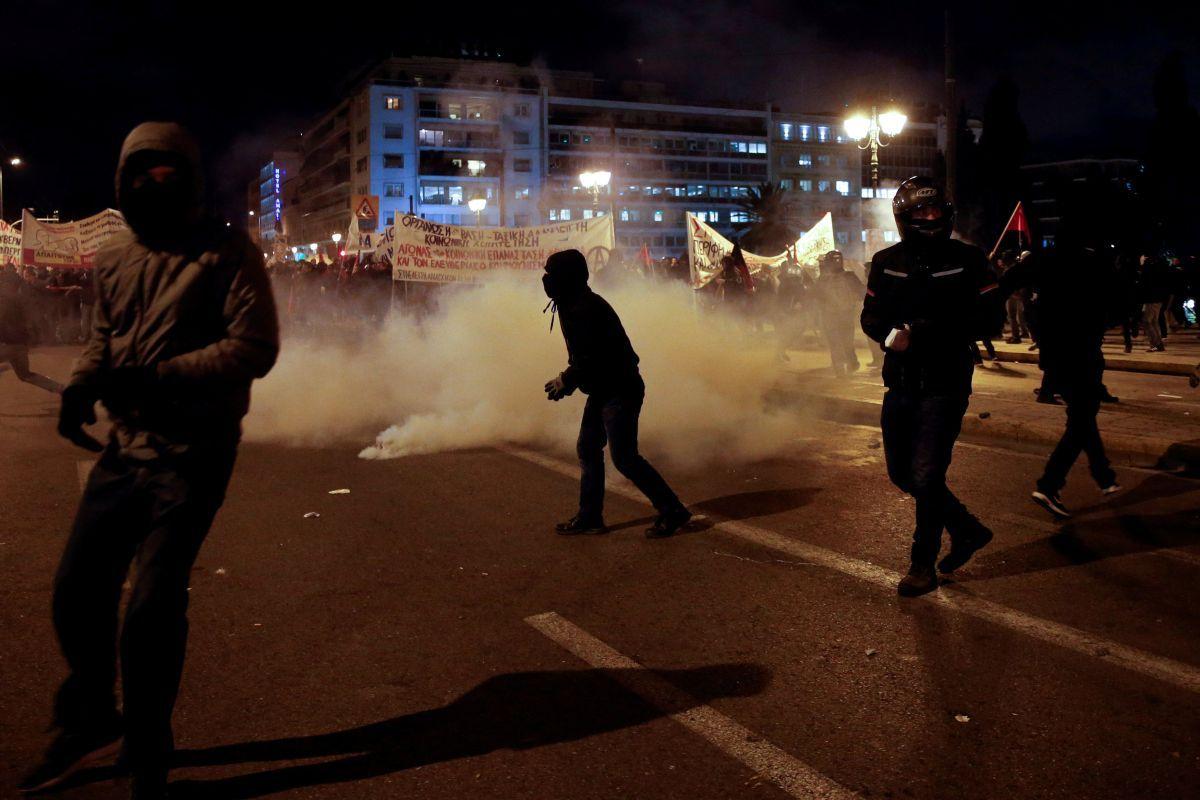 Протести в Афінах / REUTERS
