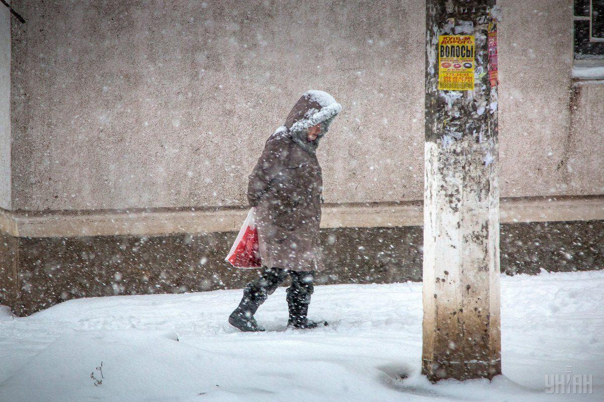 На Закарпатті сьогодні йде сильний сніг / УНІАН