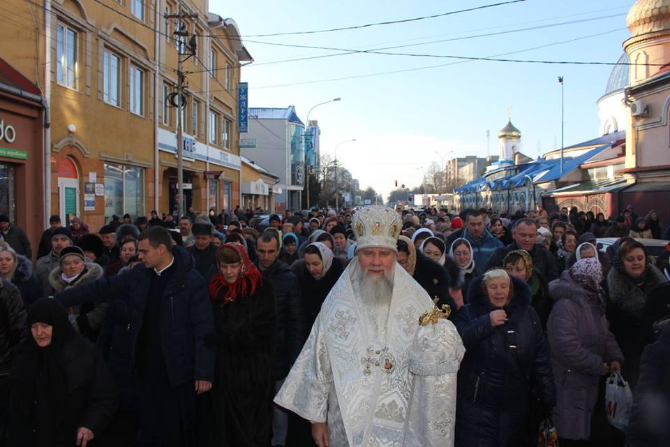 Освящение вод в Мукачево / news.church.ua