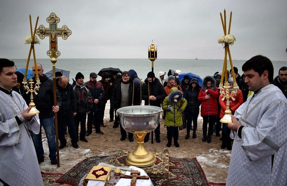 Освящение вод в Бердянске / news.church.ua