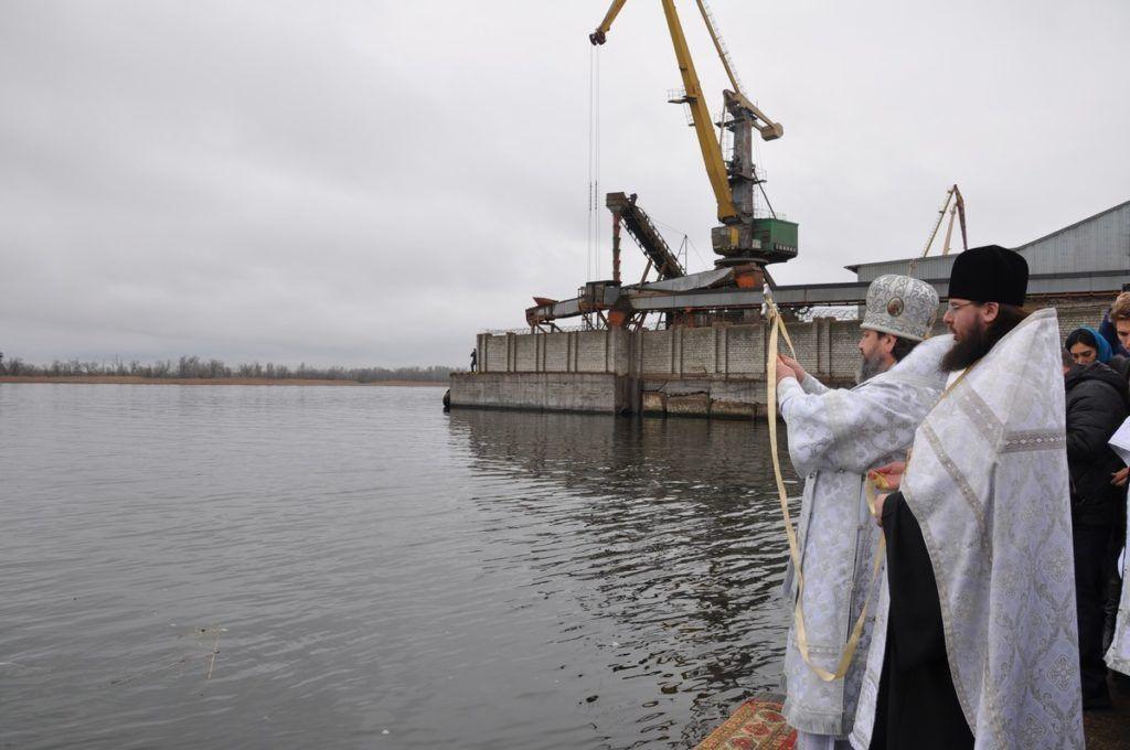 Освящение вод в Херсоне / news.church.ua