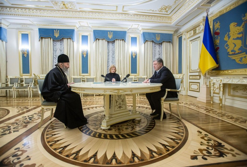 Президент подякував Митрополита Онуфрія за підтримку процесу звільнення українських заручників / president.gov.ua