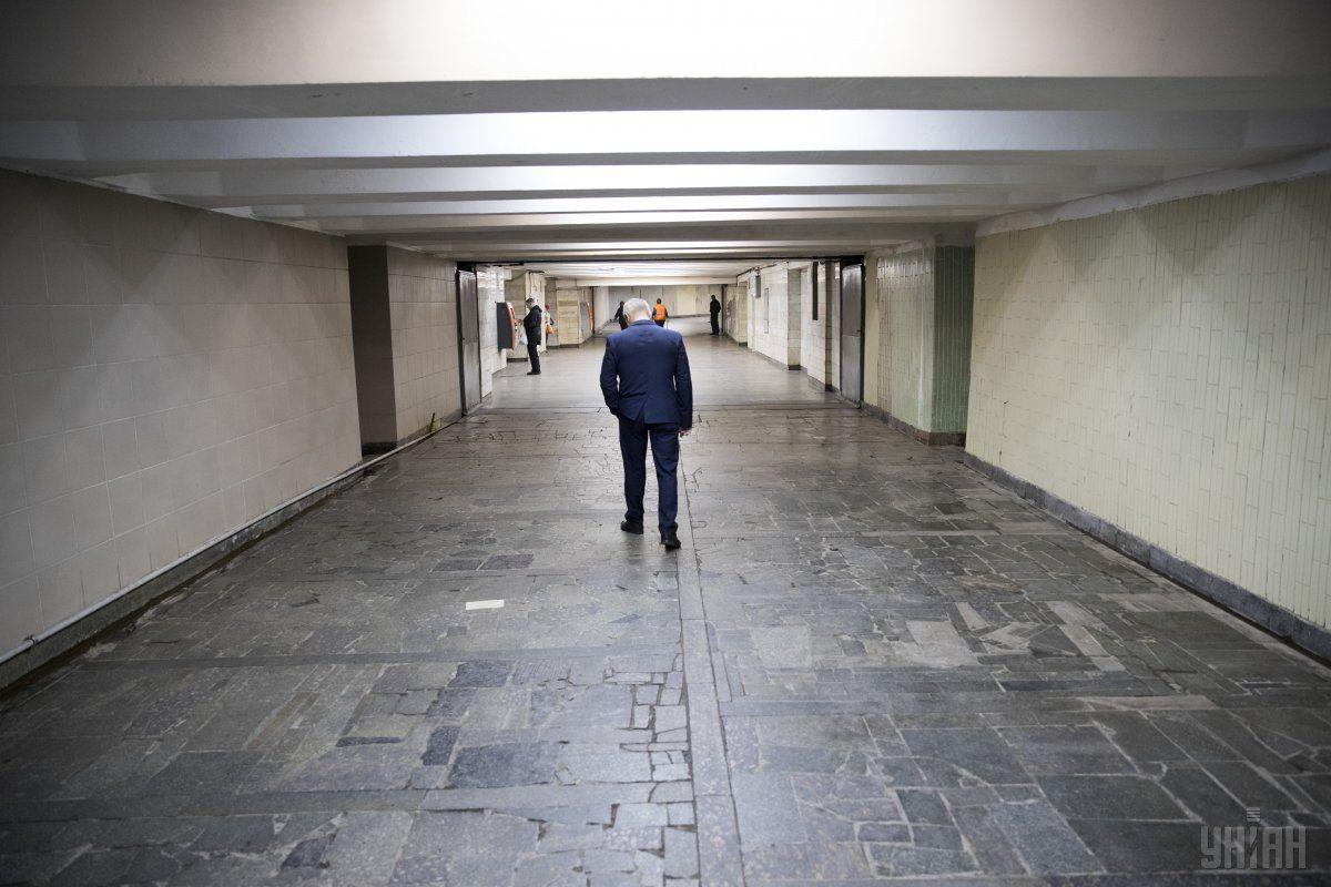 Вихід із підземного переходу до Музею історії Києва не працюватиме до закінчення заходів / фото УНІАН