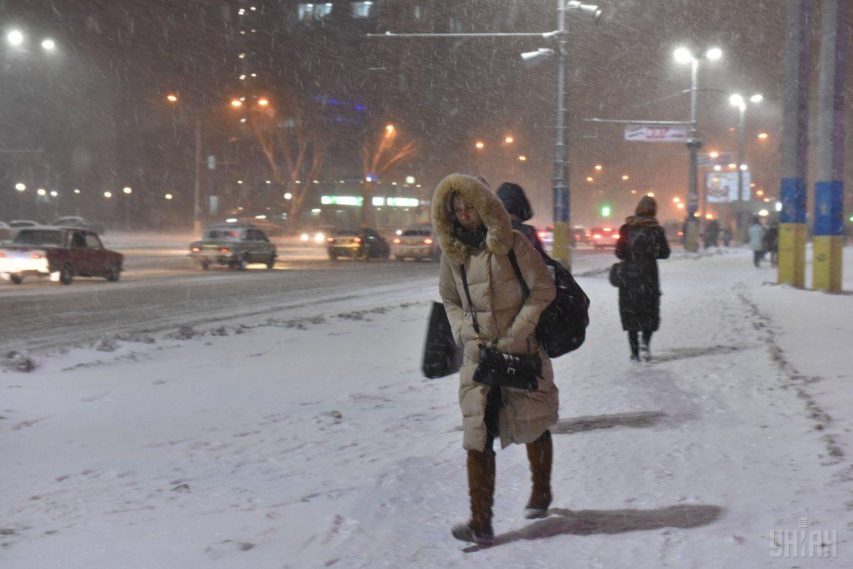 Сегодня местами пройдет снег / УНИАН