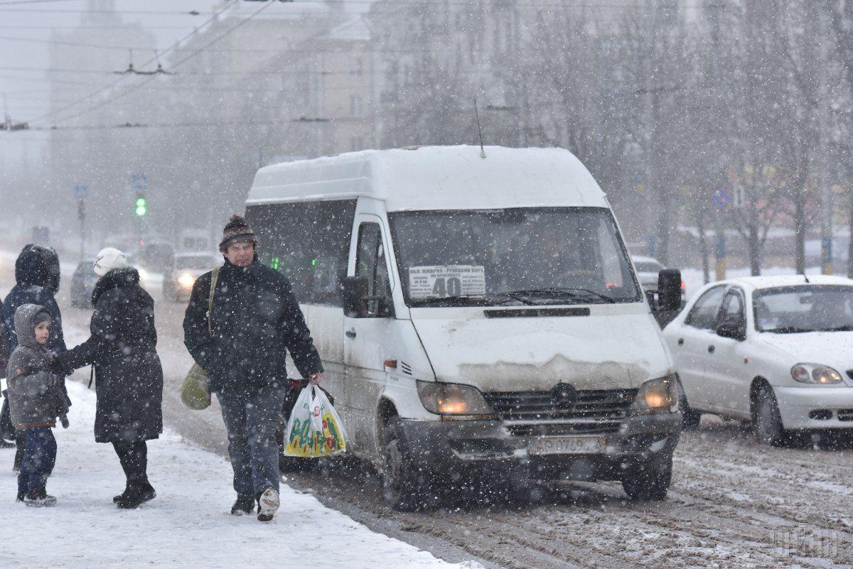 В Украину идут снегопады и метели / фото УНИАН