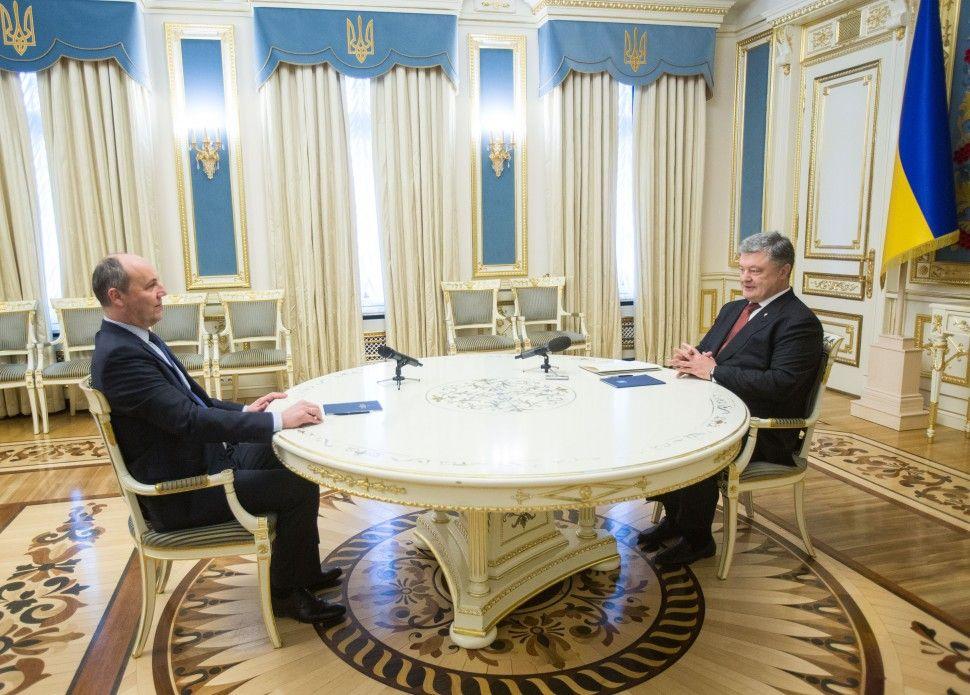 Парубий встретился с Порошенко / фото president.gov.ua