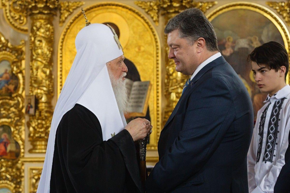 Президент привітав Главу УПЦ КП / facebook.com
