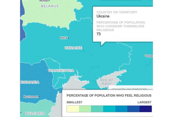 В Украине 73% населения считает себя религиозными / telegraph.co.uk