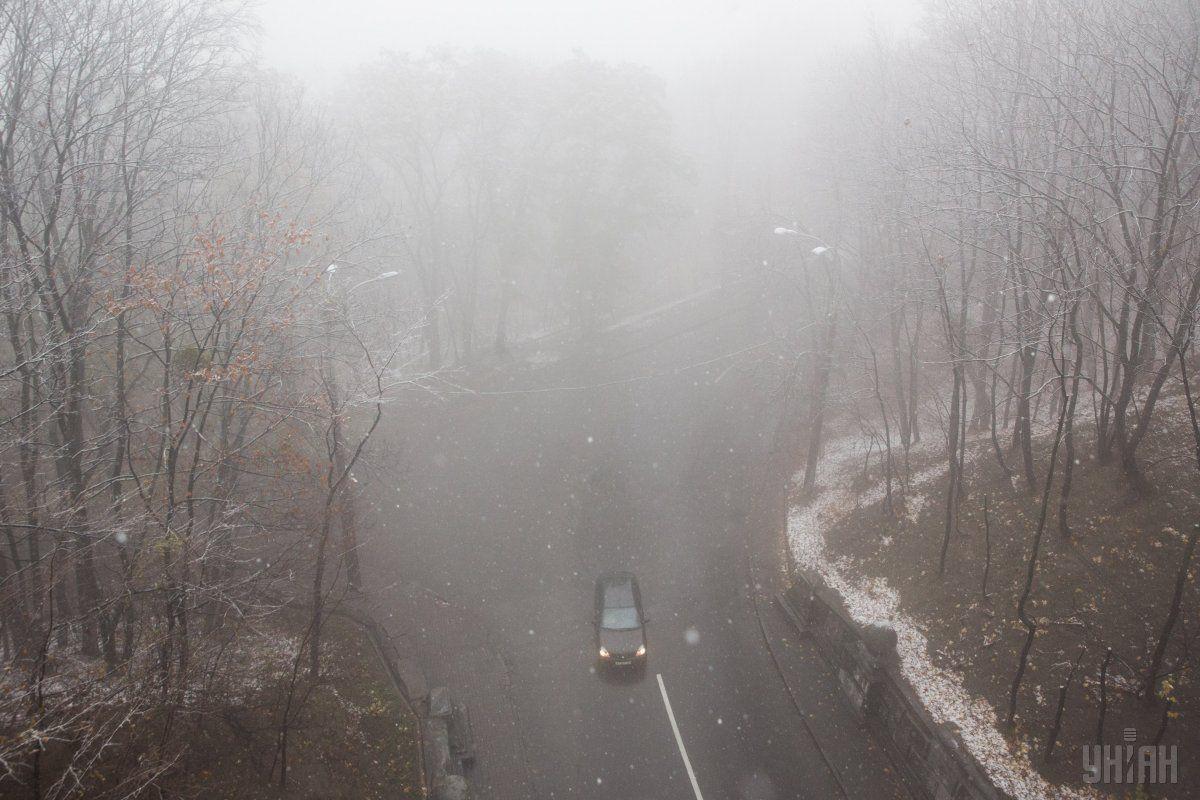 В Украине местами пройдет мокрый снег / фото УНИАН