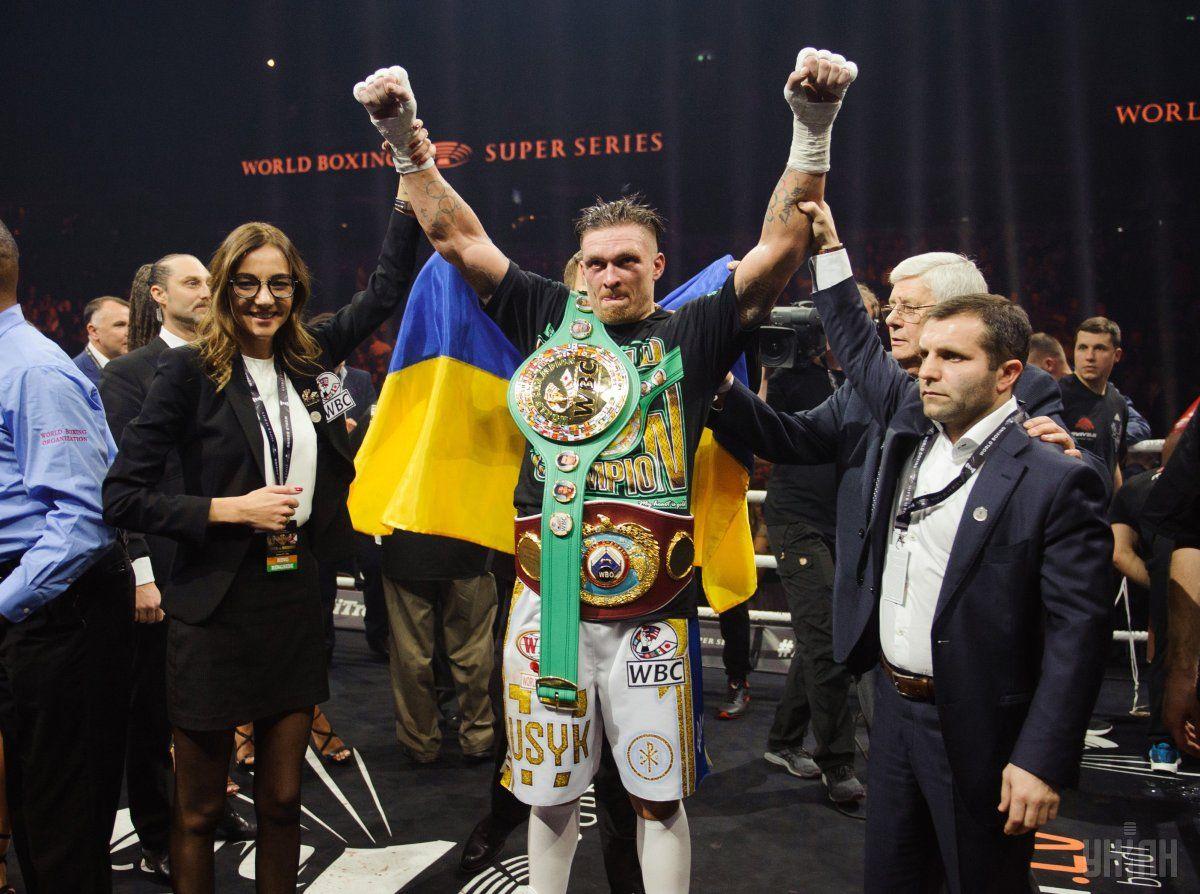 Александр Усик завоевал пояс WBC в январе 2018 года / УНИАН