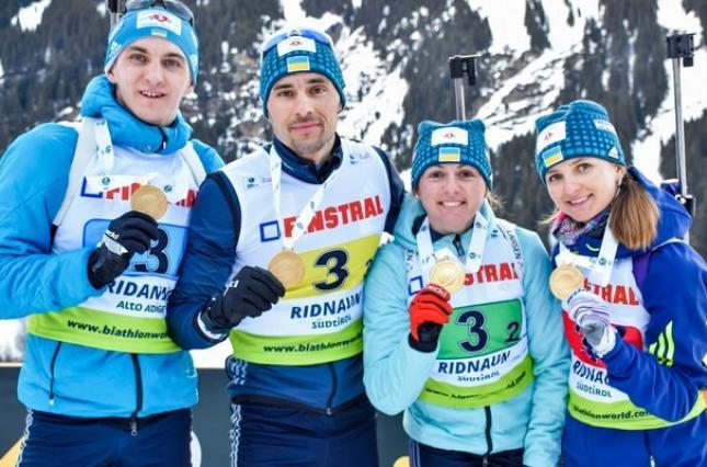 України виграла змішану естафету чемпіонату Європи з біатлону