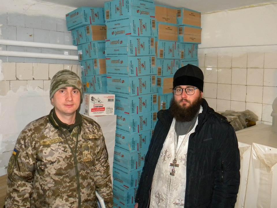 Для нужд военнослужащих переданы продукты питания и моющие средства / orthodox.vinnica.ua