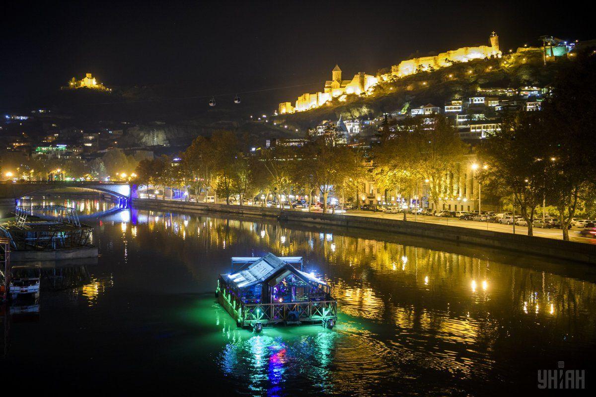 Ночной Тбилиси / Фото УНИАН