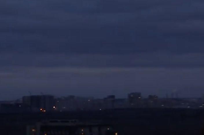 Погода в Киеве помешала разглядеть суперлуние / Скриншот видео ТСН