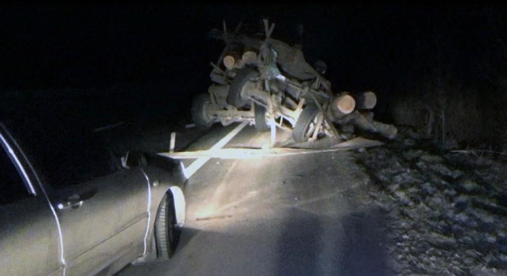 Авария лесовоз луга 2 мае